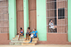 People in Trinidad, Cuba Stock Photo