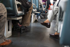 People in the trolley car Royalty Free Stock Photography