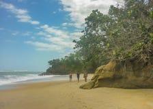 People at Tropical Beach of Tayrona National Park Royalty Free Stock Photography