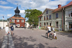 People Trosa square Sweden Stock Images