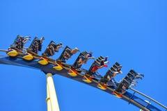 People turned enjoying amazing Montu Rollercoaster ride at Bush Gardens Tampa Bay _ stock photography