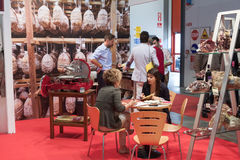 People at TuttoFood exhibition in Milan Stock Photos