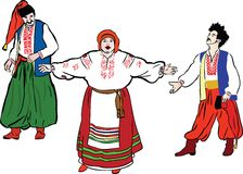 People in the Ukrainian national costumes Royalty Free Stock Photo