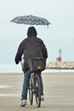 People with umbrella Stock Photos