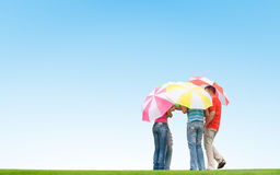 People with umbrellas Royalty Free Stock Images