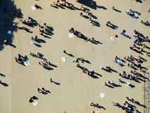 People. Under Eiffel tower (Paris, France Stock Image