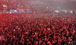 23 january 2019 Bologna- people at calcutta concert royalty free stock images