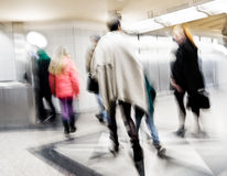 People in the underground, blurred Stock Images