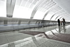 People on underground platform Royalty Free Stock Image