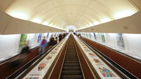People in a underground station in prague czech republic europe t lapse stock video footage