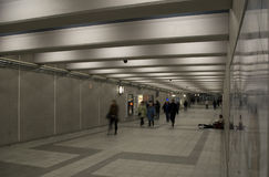 People in underground tunnel in american city Stock Photos