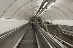 People on underground tunnel staircase Royalty Free Stock Photography