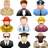 People in uniform icon set Stock Images