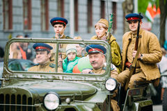 People uniformed Soviet soldiers and officers Stock Photography