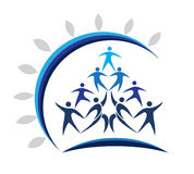 People union logo Royalty Free Stock Image