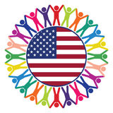 People of United States of America, vector  Royalty Free Stock Image