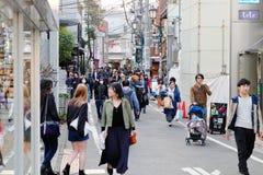 People in Ura-Harajuku street. Royalty Free Stock Images