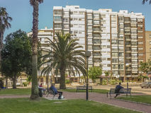 People at Urban Park in Montevideo Stock Image