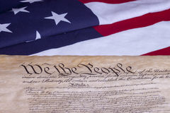 We The People US Constitution Royalty Free Stock Images
