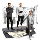 People and USA Dollars Royalty Free Stock Images