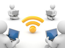 People use free wifi Royalty Free Stock Photo