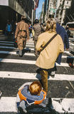 People use a Pedestrian crossing Stock Photography