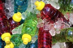 Sports energy drinks on ice. stock photos