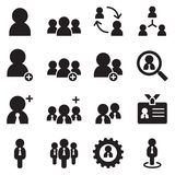 People , user, businessman , avatar icons set Stock Photos
