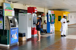 People using ATM machine in Boracay, Philippines Royalty Free Stock Photography
