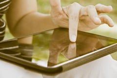 People using digital tablet Stock Image