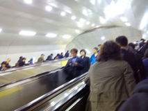 People using escalator Royalty Free Stock Photos