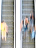 People using escalator Royalty Free Stock Images