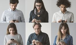 People using the mobile phone. People using the mobile  phone stock image