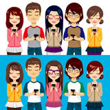 People Using Mobile Phones Royalty Free Stock Photos
