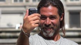 People using smart phones stock video