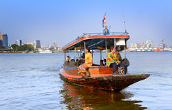 People using the transport boat Royalty Free Stock Images