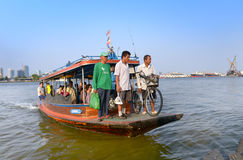 People using the transport boat Royalty Free Stock Photo