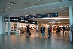 People in Vaclav Havel Prague Airport royalty free stock photos