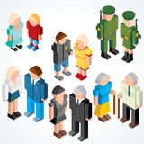 People with various Ages Royalty Free Stock Images