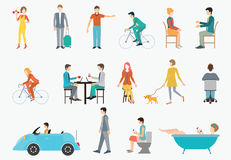 People in various lifestyles. Stock Images