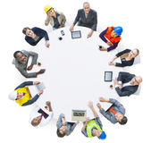 People with Various Occupations in a Conference Stock Image