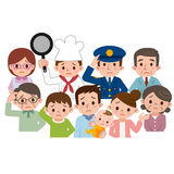 People of various occupations of the region have a troubled look Royalty Free Stock Photos