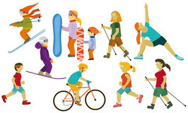 People (various sport activities) Royalty Free Stock Photo