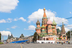 People on Vasilevsky Descent of Red Square, Moscow Royalty Free Stock Photography