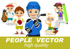 People vector with children's characters Stock Photo