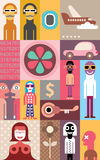 People vector collage Royalty Free Stock Photos