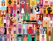 People Vector Illustration Royalty Free Stock Photo