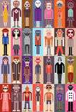 People vector illustration Stock Photos