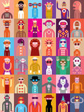 People vector illustration Royalty Free Stock Photos