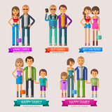 People vector logo design template. happy family Royalty Free Stock Photography